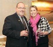 Dennis Gilfoyle of Junior Achievement of Western Pennsylvania and Brigette Butler of Level 3 Communications.