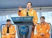 United Steelworkers President Leo Gerard addresses attendees.