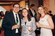 Zack Gawlas of Deloitte Consulting LLP, Rachel Gawlas, center, of Metz Lewis Brodman Must O'Keefe LLC and Emily Thomas of Reed Smith LLP attended the Energy Leadership Awards May 17, 2012.