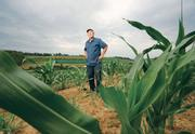While it wasn't as overwhelming a drought as in the Midwest, southwestern Pennsylvania farmers didn't escape effects of a drought that lasted from July through September. Here,Tim Trax, co-owner of Trax Farms and the person in charge of irrigation at the Finleyville, stands on July 23 among a crop of field corn, whose growth has been stunted by the lack of rainfall this season. Trax said that in a normal growing season, the corn would be as tall as him by that point. It was a similar story elsewhere in the region.