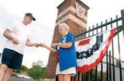 Ticket taker Janet Carey works the gate before a Washington Wild Things game July 5, 2012. Carey has held her post since the baseball team's inaugural season in 2002.