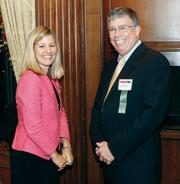 UPMC Health Plan's Carrie Fulford and Scott Ruxton.