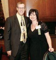 Bob Ochs and Julie Bernd of Consolidated Communications.
