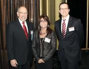 Lanxess Corp.'s Ray Newhouse, left, Beth Holdrieth and Andreas Schroeder.