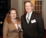 Suzanne Bindseil of Henne Jewelers and her husband, David.