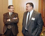 Jeffery Frye, left, and Jim Feath of Herbert, Rowland & Grubic Inc.