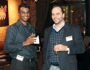 Balaji Srinivasan, left, and Doug Yarabinetz of Sherpa Software.