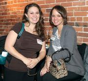 Danielle Hixon, left, and Alana Harvey of Hampton Inn & Suites Pittsburgh Waterfront.