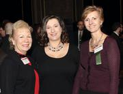 Ellie Wilkes, left, and Mona Pappafava-Ray, center, of General Carbide Corporation and Petra Mitchell of Catalyst Connection.