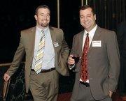 Frontier Steel Company's Erik Beach, left, and Jamie Esway.