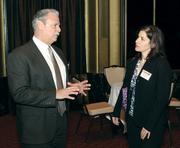 Dom Lea of Precision Kidd Steel Company chats with Megan Burns of Operations Strategy Consulting