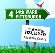 The 14th Ward in Pittsburgh is the No. 4 community in RealSTATs' listing of total dollar volume in 2011 in the Pittsburgh region.