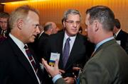The Allegheny Conference on Community Development recently held its annual meeting at the Fairmont Pittsburgh. From left are Bob Krizner of KPMG, Charles E. Bunch of PPG Industries and Pittsburgh Mayor Luke Ravenstahl. Bunch is president of the Allegheny Conference on Community Development.