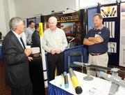 From left: R. Jeffrey Kimball of L.R. Kimball, James M. Royston of Energy Control Systems Inc. and John Samudovsky of Energy Control Systems Inc.