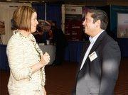 Carolyn Salapa of Reschini Agency speaks with Jared Gorentz of the Reschini Agency.