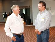 Dan Ingalls of PixController Inc., left, and Rob Smith of Big West Oilfield Services.
