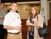 Jonathan Cuffs and Amy Criss, both of the 84 Energy Supply division of 84 Lumber Co.