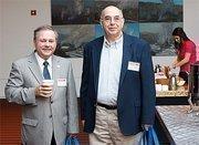 Beaver County Commission Chairman Tony Amadio, left, and Dick Dupree of EKT Interactive.