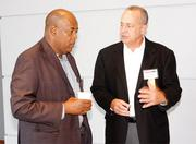 Alexander Nichols of WPMSDC, left, and Rick Sutter of Cleveland Brothers Equipment Co. Inc.