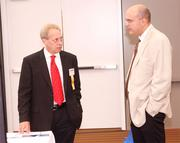 Bob Dagostino of Dagostino Electronic Services, left, and Frank Gargiulo of HHSDR Architects/Engineers.