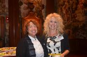 Two women network at the Pittsburgh Business Times health care event.