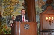 Steve Hynds of First National Insurance Agency spoke at the health care reform panel discussion held Tuesday morning at the Duquesne Club.