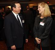 Earl Martin of First Commonwealth Bank speaks with Lois Wholey of the Pittsburgh Ballet Theatre.