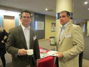 George Swinston, left, of Branded Solutions, and Vince Chisler of Brothers Lazer.