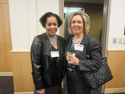 From left: Dina Clark of the YWCA of Greater Pittsburgh, and Nancy Robertson of Novus Staffing Solutions.