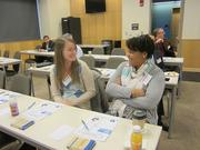 From left: Diana Peterson of YouthWorks and Tamica Mickle of YouthWorks.