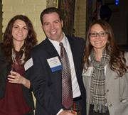 """The Pittsburgh Social Exchange held """"Pittsburgh's Largest Happy Hour"""" on Nov. 15 at Luke Wholey's Wild Alaskan Grill. More than 200 people attended, including Leigh York, Blaise Di'Natale and Nicole Cosnotti."""