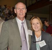"""The Pittsburgh Social Exchange held """"Pittsburgh's Largest Happy Hour"""" on Nov. 15 at Luke Wholey's Wild Alaskan Grill. More than 200 people attended, including Dennis Gilmore and Betty Jane Gilmore."""