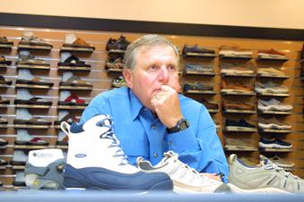 Columbia Sportswear CEO Tim Boyle saidretailers this year were cautious in their purchases, thanks largely to last winter's unseasonably warm weather.