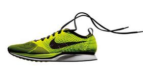 Nike's waste-reducing Flyknit technology is an example of Nike's focus on sustainable manufacturing.