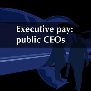 Executive pay: public CEOs