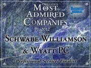 Fast fact: Schwabe Williamson & Wyatt PC is wrapping up a multi-floor remodel at its longtime PacWest Center home, after renewing its lease there in 2011.