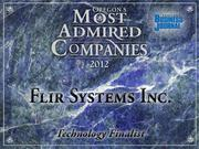 Fast fact: Flir Systems boosted fiscal year sales by 11 percent to $1.5 billion.
