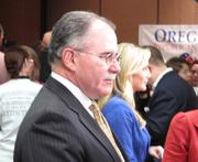 Oregon Republican Party chairman Allen Alley remained optimistic at the Oregon GOP's gathering at the Embassy Suites Portland Airport.