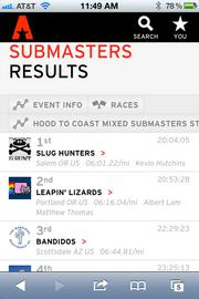 Teams that used the system during the race could track their progress and project how they would finish in their race category. All team results were added to Athletepath's race center after the relay concluded — you can view them here.
