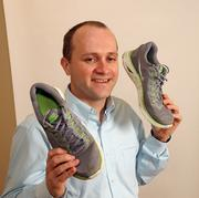 Lincoln Bach, CFO, GreenWood Resources.Bach's running shoes provide a diversion from his GreenWood Resources duties.