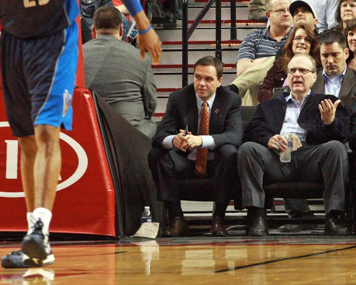 Chris McGowan (left, with Blazers owner Paul Allen) has adapted well to his new job and community.