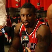 """Shooting guard Wesley Matthews, on the team's likely four-center rotation: """"Call me crazy, I like this team. L.A., J.J (Hickson, potentially the starter) is at another level right now, he's got something to prove. I'm a fan of the other guys. Joel (Freeland, a newcomer swingman from England) is hungry, he's aggressive, he's a dog. (Forward) Victor (Claver) can play at the stretch four. Luke (Babbitt, a third-year forward) is shooting lights out. Jared Jeffries is going to bring defense and veteran intangibles. I like it. Let's throw the ball up."""""""
