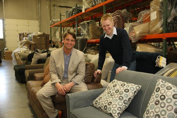Pacific Furniture Industries co-owners Chris Staley & Nathan Hagglund .