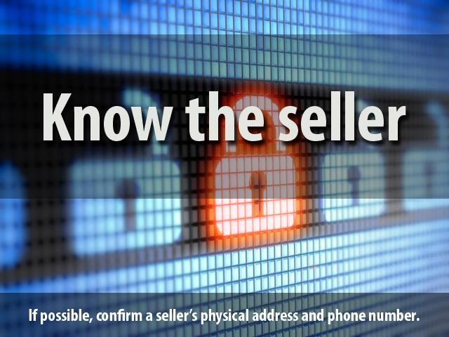 1. Know the seller