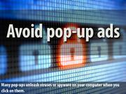 3. Avoid pop-up ads