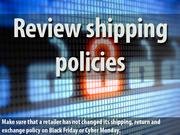 5. Review shipping & return policies