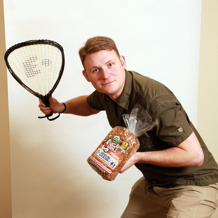 When not playing racquetball, Dave's Killer Bread CEO Shobi Dahl (as photographed for the Business Journal's Forty Under 40 awards) spends plenty of time hunting for executive talent.