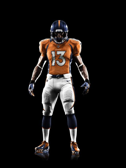 The Nike-designed Denver Broncos uniform