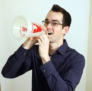 David Embree, founder and CEO of Athletepath.Embree uses his company's megaphone to cheer on his clients.