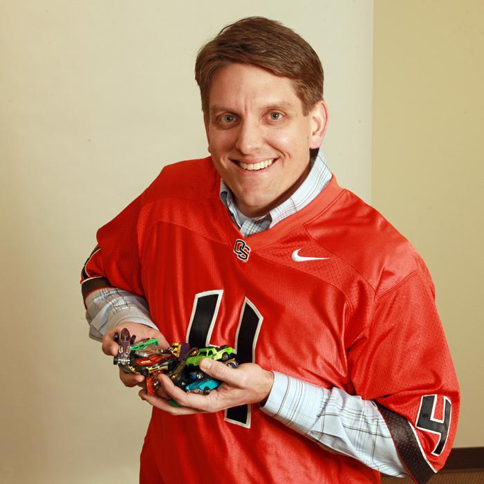 Ryan Flynn loves OSU and, as evidenced by his kids' Matchbox cars, his two boys.